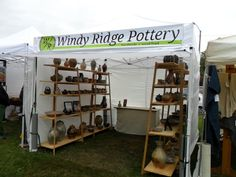 We debuted our new art fair booth last weekend at the Spring Green Art and Craft Fair. We thought our old booth was a little too deep and. Craft Show Booths, Craft Booth Displays, Craft Show Ideas, Display Ideas, Booth Ideas, Window Displays, Displays For Craft Shows, Booth Decor, Diy Ideas