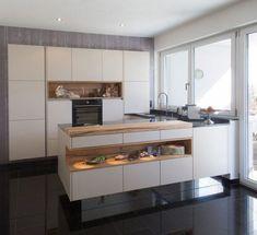 Modern kitchens at Gfrerer Kitchens in Goldegg, Salzburg - The Home Decor Trends Kitchen Storage, Kitchen Decor, Küchen In U Form, Kitchen Cabinets, Kitchen Appliances, Scandinavian Kitchen, Cuisines Design, Küchen Design, Design Ideas
