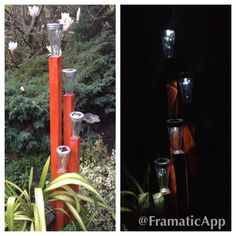 Made by my clever husband. Solar lights.