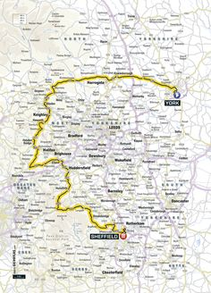 Le Tour 2014, day 2 route through Yorkshire
