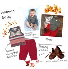 Purebaby's lovely vest goes great with their chili pant and L'ovedbaby's Gl'oved Bodysuit. I adore the Totsmocs moccasins. They're so soft!
