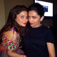 Kanika Kapoor, Deepika Padukone posing together. #Bollywood #Fashion #Style #Beauty
