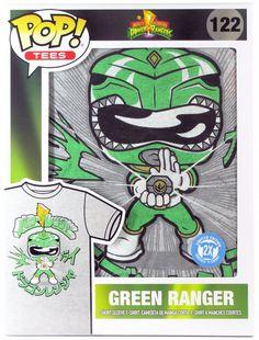 658cbfd404 Funko Pop Green Ranger T-shirt POP Tees #122 Power Rangers Size 2X 2XL XXL  NEW #Funko