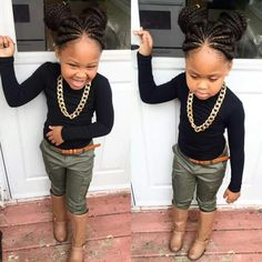 Her little outfit Cute Kids Fashion, Little Girl Fashion, Toddler Fashion, Cute Little Girls Outfits, Kids Outfits, Cute Girls, Lil Girl Hairstyles, Kids Braided Hairstyles, Children Hairstyles