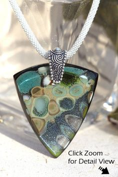 Fused Glass Jewelry Organic Earth Tones Rock por IntoTheLight