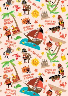 Wrapping Paper, Wallpaper & Fabrics by Ed Miller Design, via Behance