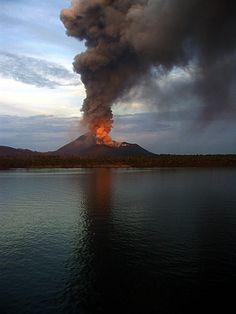 Rabaul volcano. Papua New Guinea