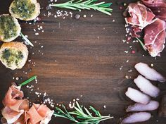 Wine meat appetizer set by Foxys on @creativemarket