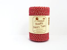 Red Baker's Twine  100m Spool of Classic Beefeater by UnwrapColour