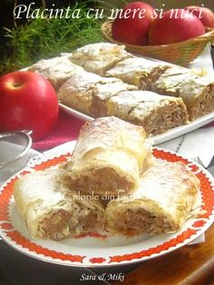 Placinta-cu-mere-si-nuci-1 Lorraine, Feta, Zucchini, French Toast, Deserts, Food And Drink, Cooking Recipes, Bread, Breakfast