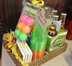 Gift baskets for man ( beer game basket)
