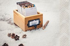 What a cool idea -- a diary in the form of cards in a box. Very clever!