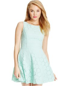 Speechless Juniors' Lace Flared Dress - Juniors Dresses - Macy's