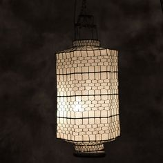 Long hexagen white lamp Cloth material makes it long lasting use Delicated handcraft artwork Oriental, Ceiling Lights, Traditional, Pendant, Artwork, Home Decor, Work Of Art, Decoration Home, Auguste Rodin Artwork