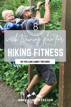 In depth 8 week training plan for hiking and building strength for carrying your kids on your back. Cardio, strength, Peloton equivalents, and printables. #fitnesstraining #hikingshape #trainingplan #hikingseason Training Schedule, Training Plan, Strength Training, Peloton Bike, Hiking Training, Hiking With Kids, Take The Stairs, Jump Squats, Day Hike