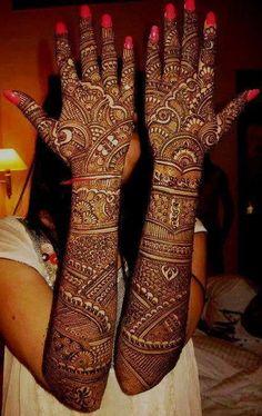 Bridal henna or mehndi designs. Henna Hand Designs, Dulhan Mehndi Designs, Mehandi Designs, Latest Bridal Mehndi Designs, Full Hand Mehndi Designs, Mehndi Designs 2018, Wedding Mehndi Designs, Beautiful Henna Designs, Simple Mehndi Designs