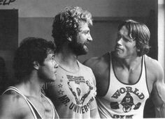 Franco Columbu, Jusup Wilkosz and Arnold Schwarzenegger
