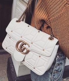 Vintage Gucci bag with chunky sweater and jeans Handbags Wallets - Gucci Bag - Ideas of Gucci Bag - Vintage Gucci bag with chunky sweater and jeans Handbags Wallets Gucci Purses, Gucci Handbags, Luxury Handbags, Fashion Handbags, Fashion Bags, Fashion Clothes, Fashion Fashion, Fashion Women, Fashion Ideas