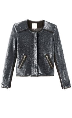 obsess with this sequin jacket on sale