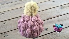 Bonnet crochet relief boules splendide / Beanie (cap, hat) bubble stitch...