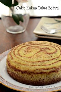 Simply Cooking and Baking...: Cake Kukus Talas Zebra : Gluten Free & No Food Additive