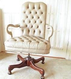 Painting A Leather Chair A Year Later - White Lace Cottage