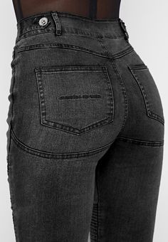 Jeans Fit, Black Jeans, Skinny Jeans, Bamboo Rayon, Best Sellers, Stretch Fabric, Thighs, Silver Buttons, Model