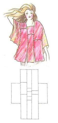 Sewing Inspiration: Angel Top by Kayla Kennington - this basic pattern will also be great for using knitted or crochet squares and rectangles. Diy Clothing, Sewing Clothes, Clothing Patterns, Sewing Patterns, Sewing Tutorials, Sewing Hacks, Sewing Crafts, Sewing Projects, Diy Couture