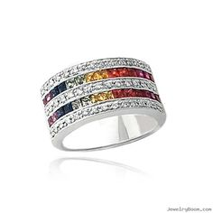 Double Rainbow, Tourmaline Gem Stones Ring.   Google Image Result for http://www.jewelryboom.com/uploads1/products/img3/218217_1185568738.jpg