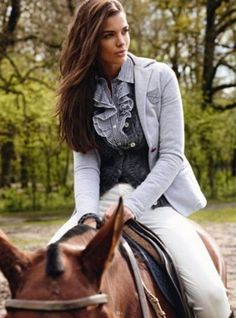 Riding takes away her worries.