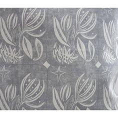 Winter Flower Fabric in Grey | Floral Material Textile Patterns, Textile Design, Fabric Design, Print Patterns, Textiles, Lucienne Day, Frank Lloyd Wright, Grey Curtain Poles, Edinburgh