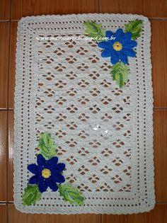 Crochet et Tricot da Mamis: Tapete em Crochet com Aplique Margaridas Mamis-Gráfico