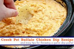 Crock Pot Buffalo Chicken Dip Recipe - Great for Tailgating! Find this recipe and many more at mom4real.com