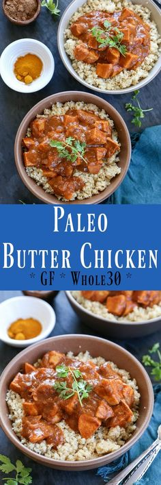 Paleo Butter Chicken - a healthier version of the classic Indian Dish. Gluten-free, and Whole30 compliant