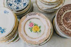 Vintage China Plates DIY Picnic Village Fete Feel Wedding http://peppermintlovephotography.com/