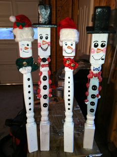 Snowmen- for outside and inside DIY posts from lowes |Pinned from PinTo for iPad|