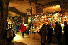(PHOTO: Visit Holland)  Europe's top Christmas markets 2016:  Valkenburg, Holland (Head to the beautiful town of Valkenburg in Holland and discover the unique Velvet Cave Christmas market. During the festive period the historic cave is filled with stallholders selling everything from Christmas wreaths to children's gifts. While you're there, check out the impressive mural paintings, sculptures and romantic 18th century chapel in the cave. Stock up on Dutch pancakes and mouth-blown glass...)