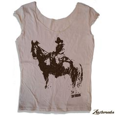 Women's Cowboy Scoop Neck Tee