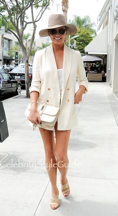 SHOP THE ROW Double-Breasted Maguire Jacket Seen On Chrissy Teigen
