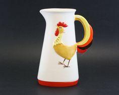 Vintage 'Coq Rouge' 1964 Holt-Howard Red Rooster Ceramic Pitcher (E6606) by LittleRedHenVINTAGE on Etsy https://www.etsy.com/listing/270537233/vintage-coq-rouge-1964-holt-howard-red