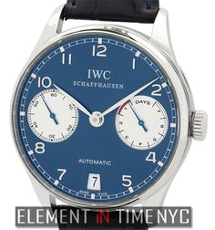 IWC Portuguese Collection Automatic 7-Day Power Reserve Laureus Limited Edition IW5001-12