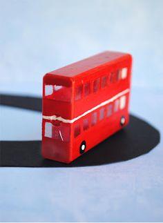 zakka life: Kid Craft: tic tac box to Double-Decker Bus