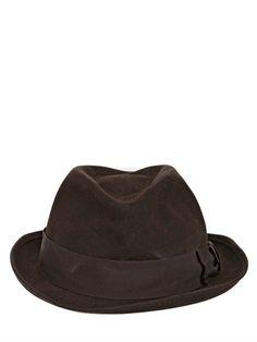 f45e3cf521a3a LUISAVIAROMA Lapin Felt Wrinkled Homburg Hat on shopstyle.com