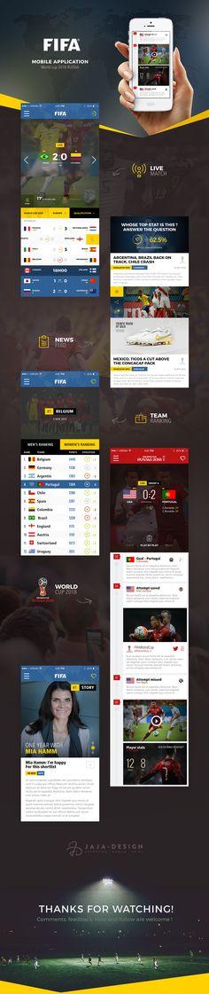 Concept UI design for FIFA Mobile App on Behance