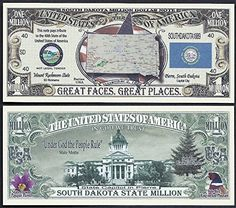 SEAL CAPITOL MONTANA STATE MILLION DOLLAR BILL w MAP FLAG Lot of 100 Bills