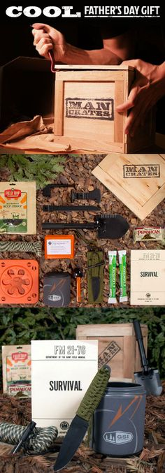 My Dad's the ultimate outdoorsman - this is perfect for him! He'll love prying this gift open on Father's Day! #mancrates