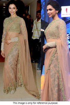 Bollywood celebrities have given a new dimension to the Indian Saree giving a whole new range of variety to shoppers. Saree worn by Bollywood celebrities have became the latest trend setters for style. Sabyasachi Sarees, Bollywood Saree, Bollywood Fashion, Bollywood Celebrities, Indian Gowns Dresses, Pakistani Dresses, Indian Sarees, Pakistani Bridal, Bridal Dresses