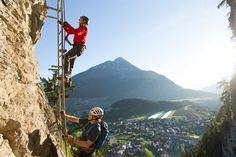 Pitztaler Bergwelt: Klettersteigen in Arzl im Pitztal und am Gletscherpark Klettersteig #DachTirols