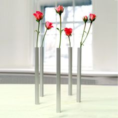 Magnetic vases in clusters creates an atmosphere of fun.