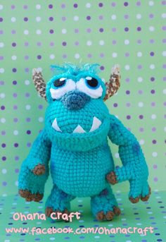 Hey, I found this really awesome Etsy listing at http://www.etsy.com/listing/163297808/sulley-amigurumi-crochet-pdf-pattern